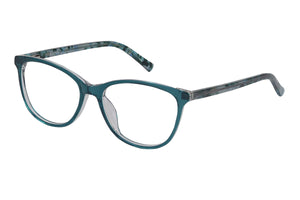 Eyecraft Jocelyn womens green glass frames