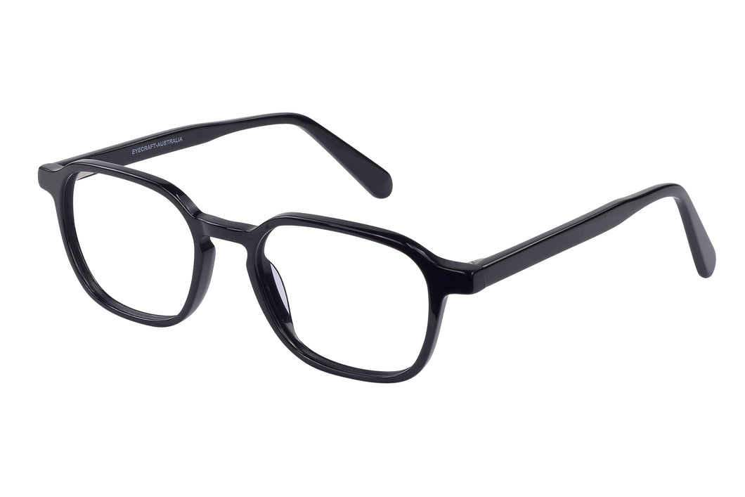 Eyecraft Kooka unisex black glass frames