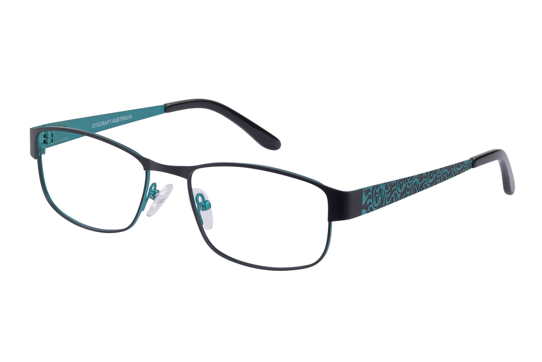Eyecraft Lola womens black blue glass frames