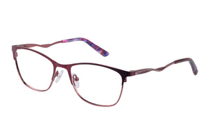 Eyecraft Luna womens burgundy glass frames