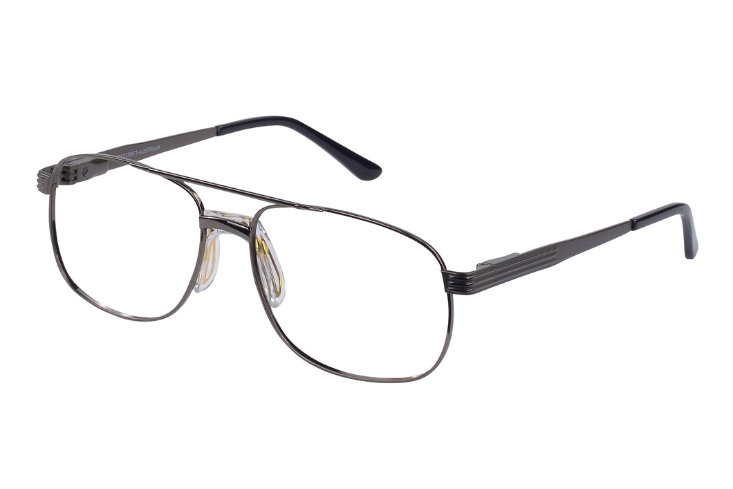 Eyecraft Malcolm men's gunmetal glass frames