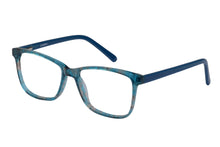 Eyecraft Mallory womens teal glass frames