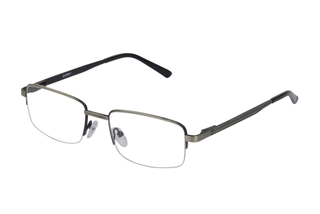 Eyecraft Mitch men's black gunmetal glass frames