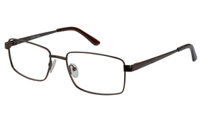 Eyecraft Mohawk men's brown glass frames