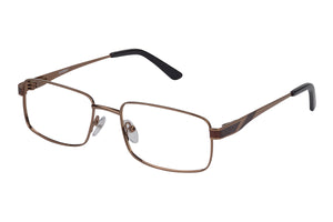 Eyecraft Noah men's brown glass frames