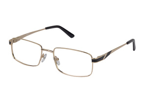 Eyecraft Noah men's black gold glass frames