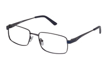 Eyecraft Noah men's blue gunmetal glass frames
