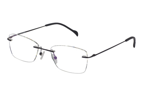 Titanium Rimless1 men's black glass frames