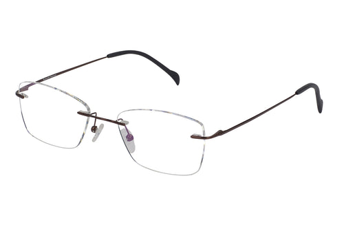 Titanium Rimless1 men's brown glass frames