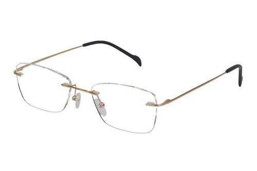 Titanium Rimless1 men's gold glass frames
