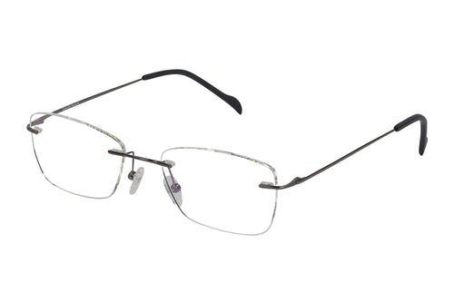 Titanium Rimless1 men's gunmetal glass frames