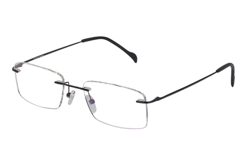 Titanium Rimless2 men's black glass frames