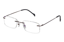 Titanium Rimless2 men's brown glass frames