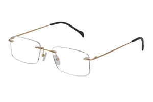 Titanium Rimless2 men's gold glass frames