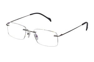 Titanium Rimless2 men's gunmetal glass frames