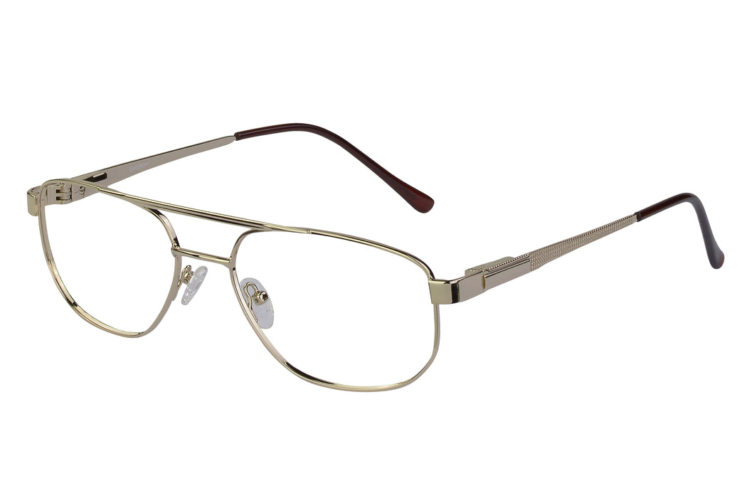 Eyecraft Rusty men's gold glass frames
