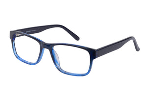 Eyecraft Trenton men's blue glass frames