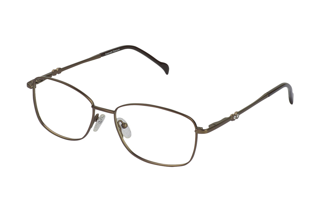 Titanium Whistler womens brown glass frames