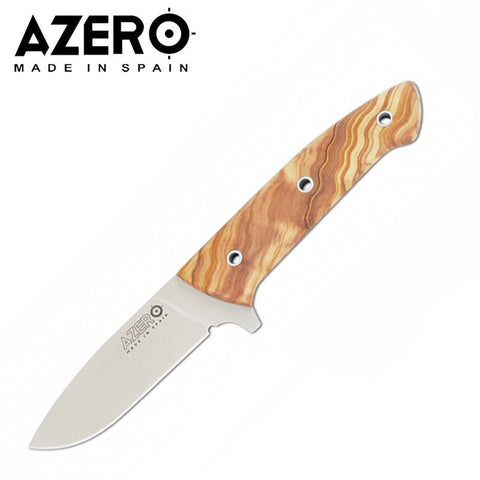 Azero Stainless Steel Olive Wood Hunting Knife