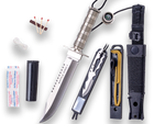 ALUMINUM HANDLE KNIFE WITH SURVIVAL KIT