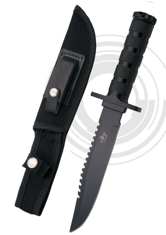 Third survival knife black