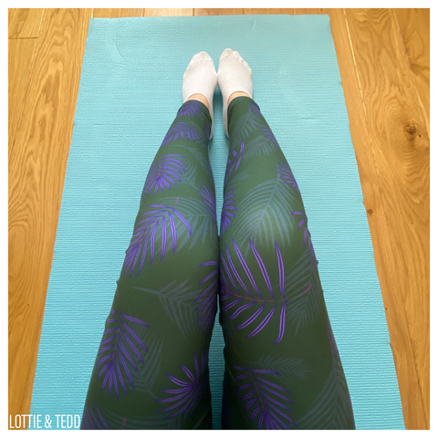 Purple Tropic LOUNGEWEAR Leggings