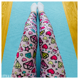 Diamond Heart ACTIVEWEAR leggings