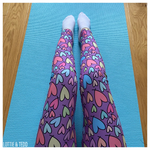Pastel Rainbow Hearts LOUNGEWEAR Leggings
