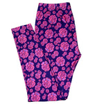 Rose Up! (Navy) LOUNGEWEAR Leggings