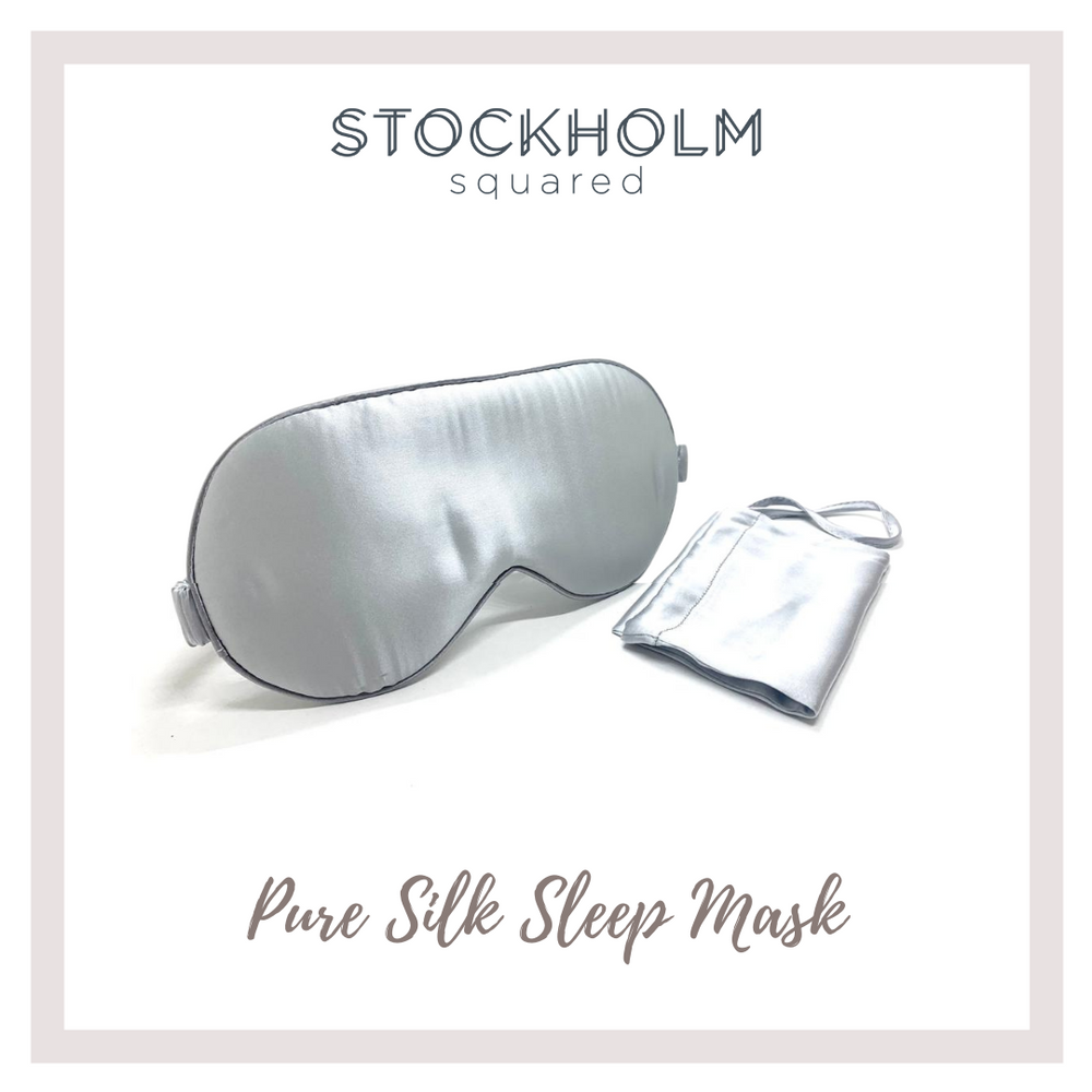 Luxury Pure Silk Sleep Mask with Silk Pouch