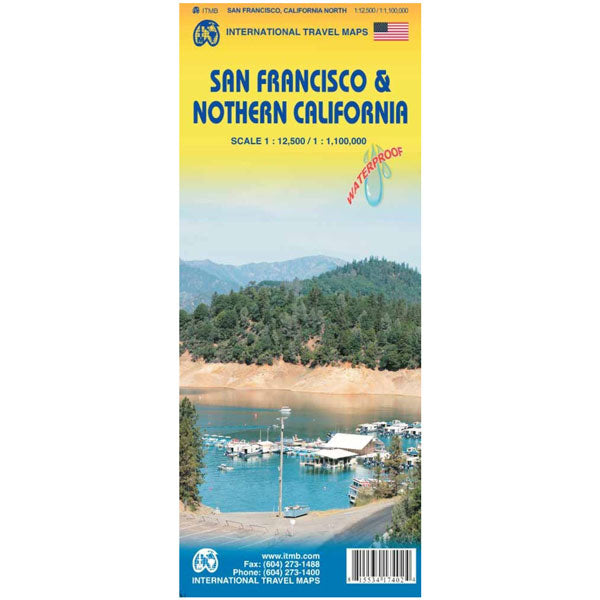 Carte San Francisco & nord de la Californie