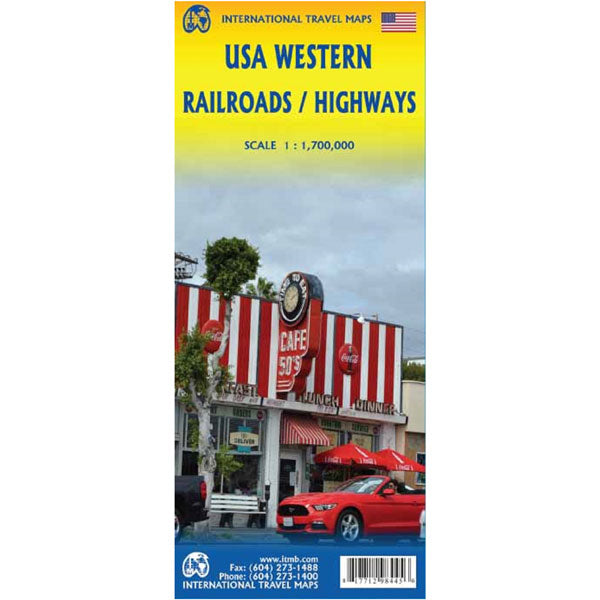 Carte USA western railroads / highways