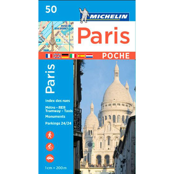 Carte de poche métro Paris