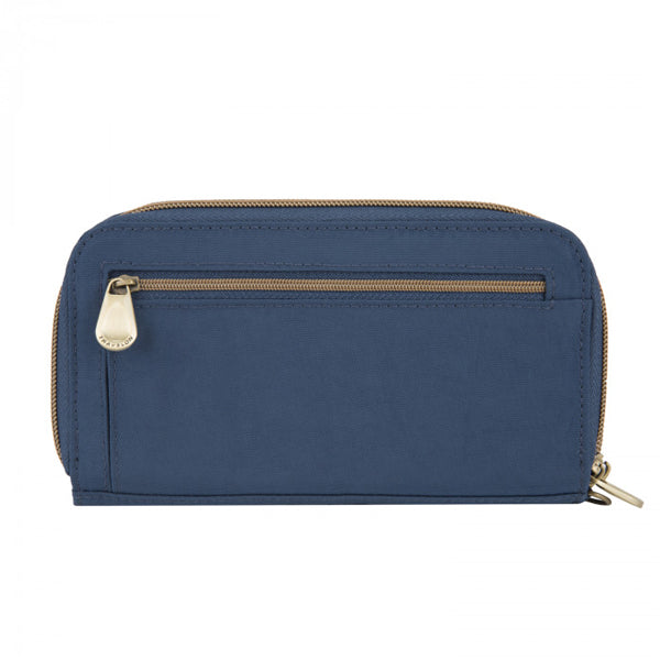 Portefeuille anti-RFID Double Zip Clutch Signature