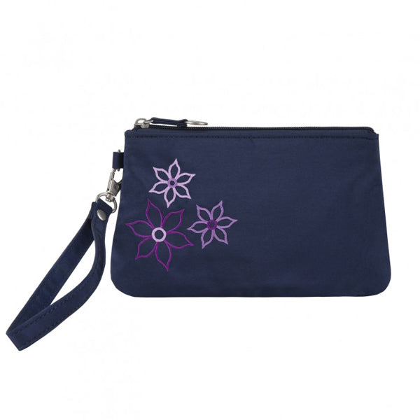Portefeuille anti-RFID Wristlet Bouquet