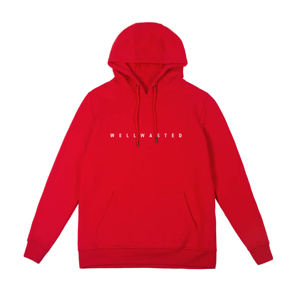 Hoodie Spaced Line – Red