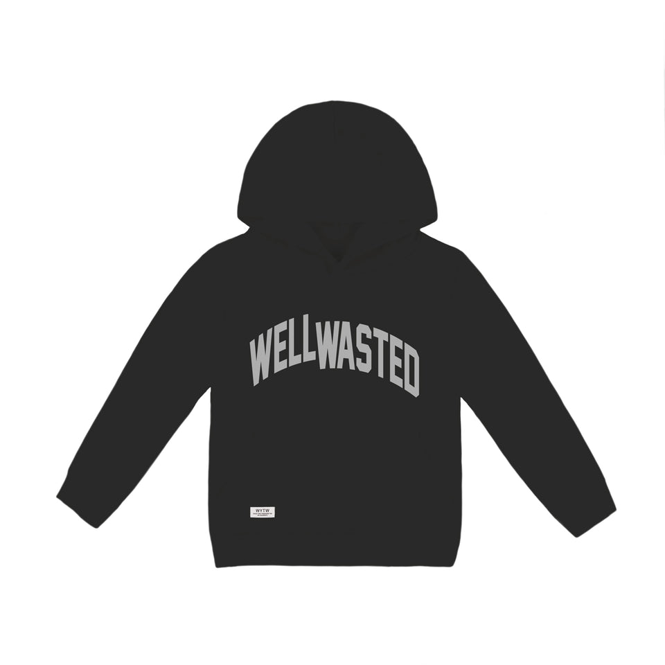 Kids Hoodie Wasted Shift – Black