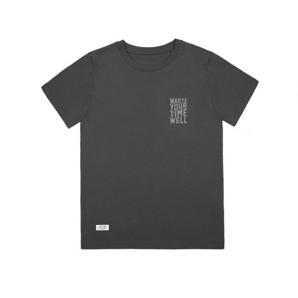 Kids T-Shirt Slogan Waves – Dark Grey