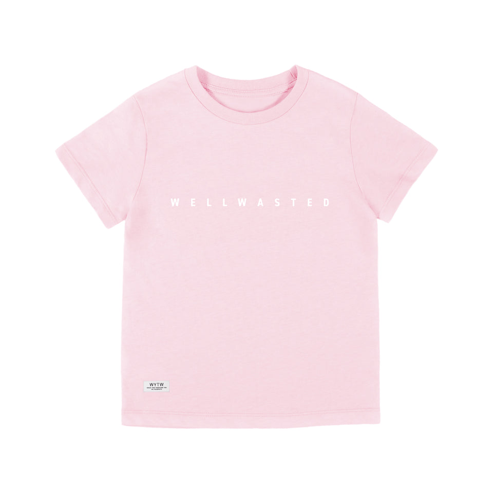 Kids T-Shirt Spaced Line – Rose