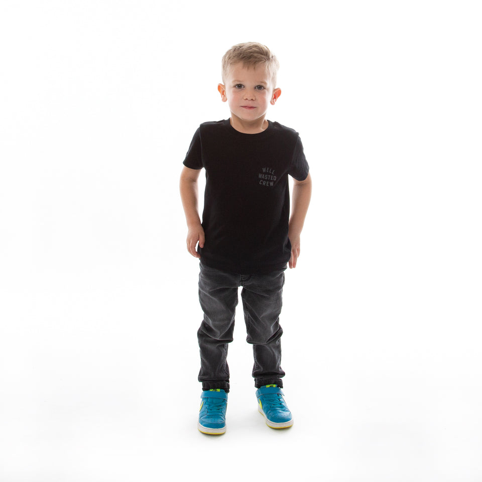 Kids T-Shirt Wasted Crew – Black