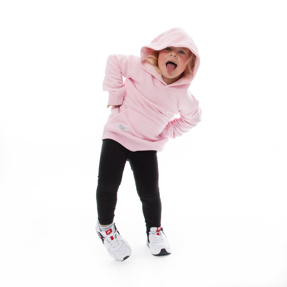 Kids Hoodie Spaced Line – Rose