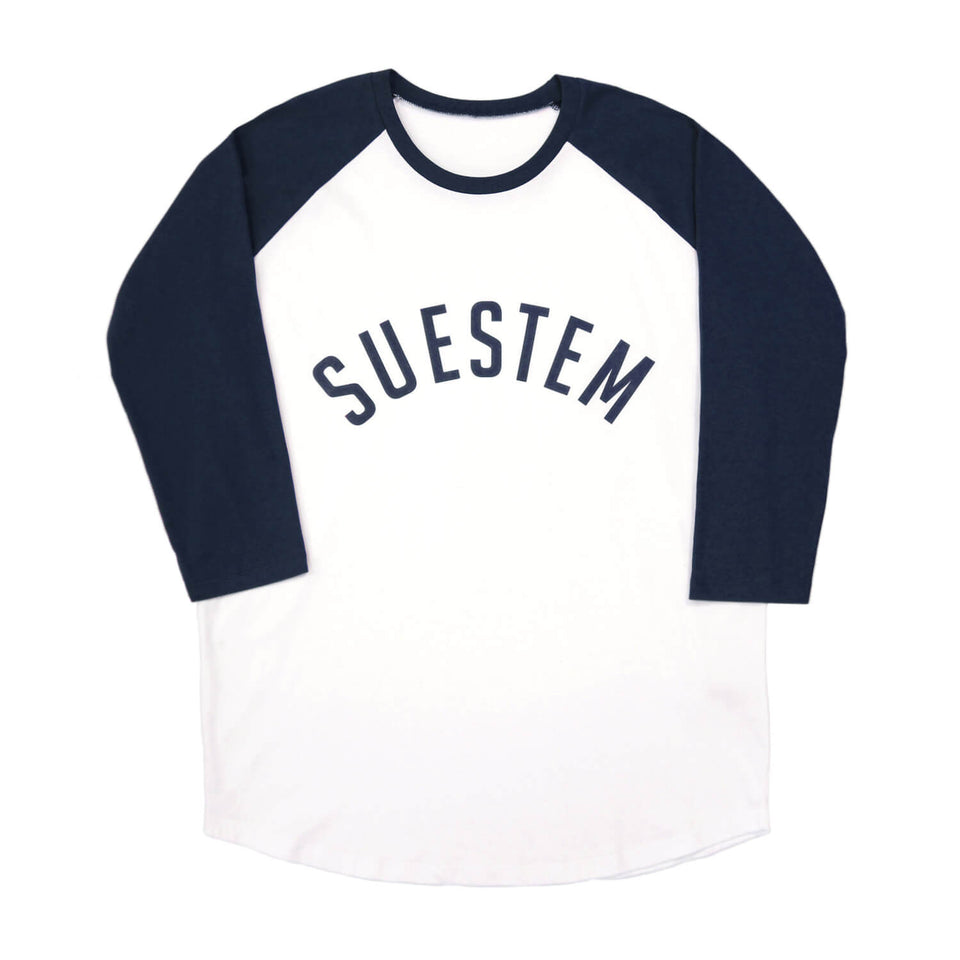 Longsleeve Suestem – White and Navy