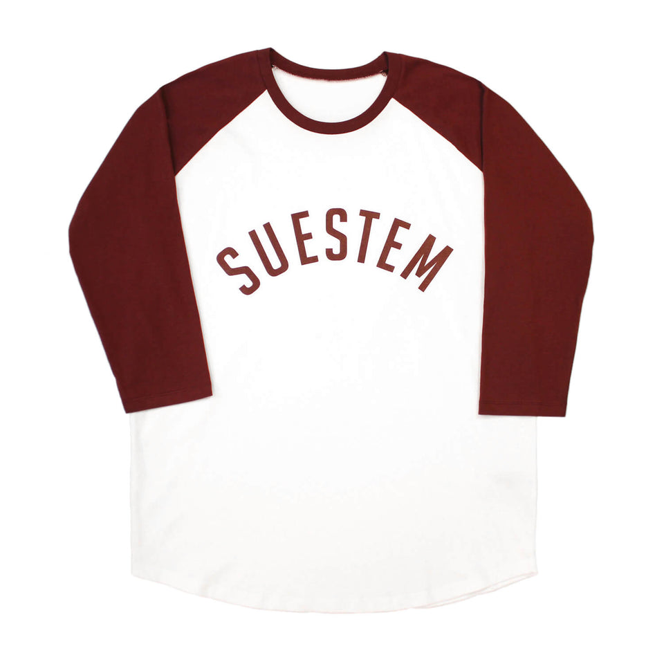 Longsleeve Suestem – White and Burgundy