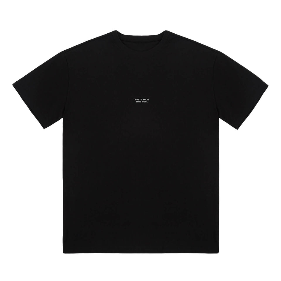 T-Shirt Slogan Oversized – Black