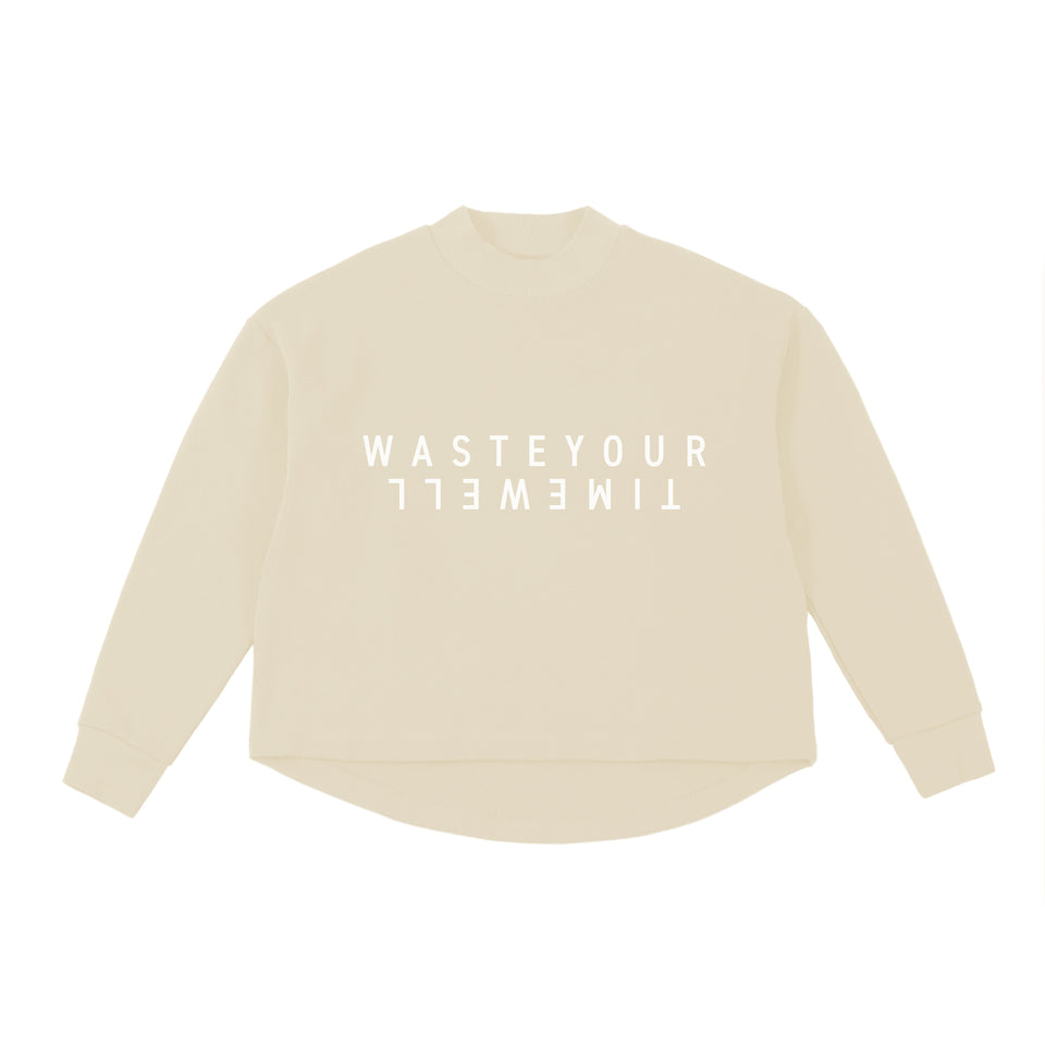Cropped Sweat Double – Beige