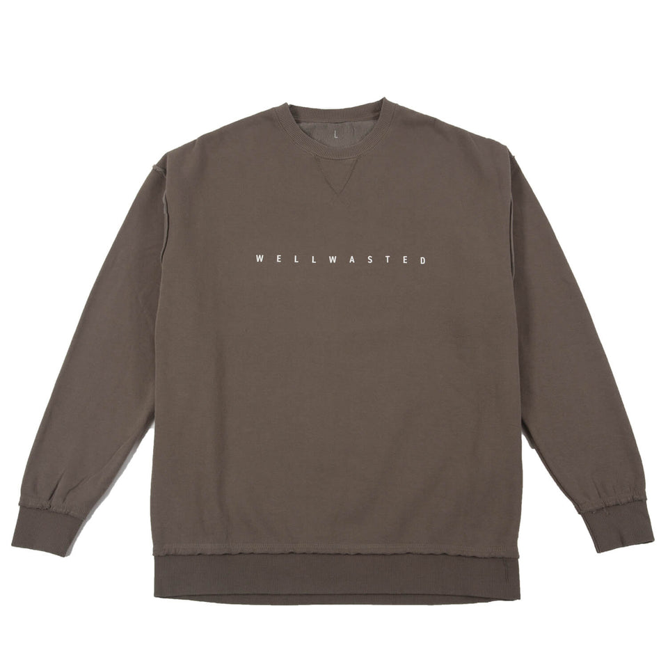 Sweatshirt Spaced Line Oversized – Mud