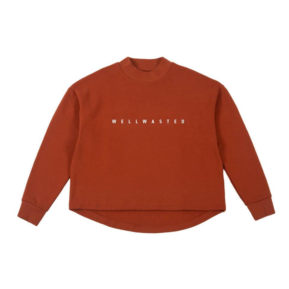 Sweatshirt High Neck – Rust