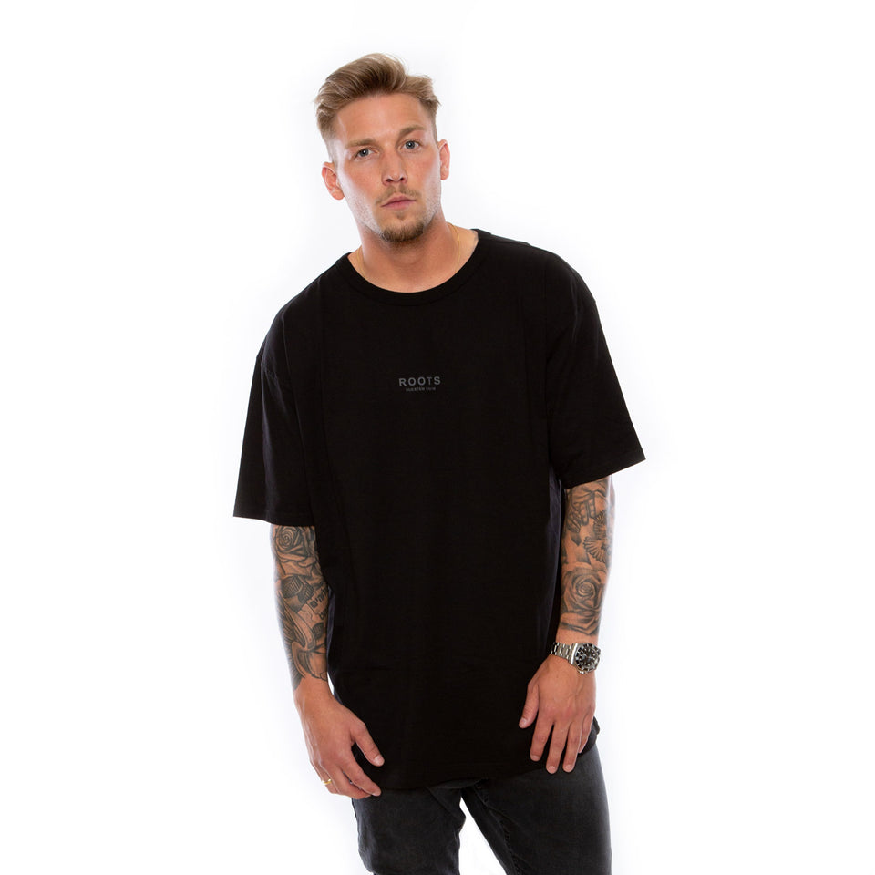 T-Shirt Roots Oversized – Black