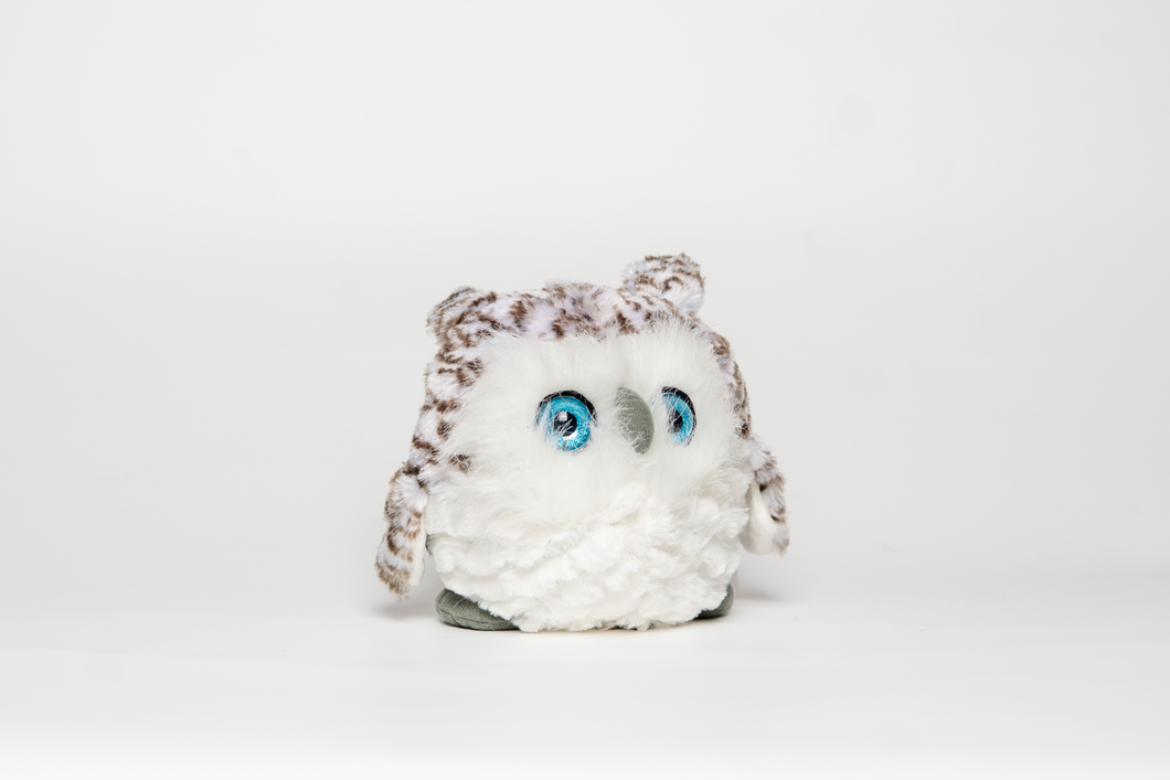 Fuzzball Owl Stuffed Animal - 6 inches