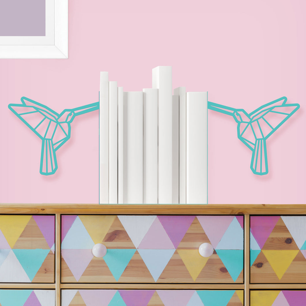 Hummingbird Shaped Origami Bookends